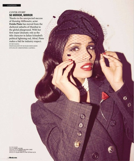 Freida Pinto by Richard Bernardin for BlackBook November 2010