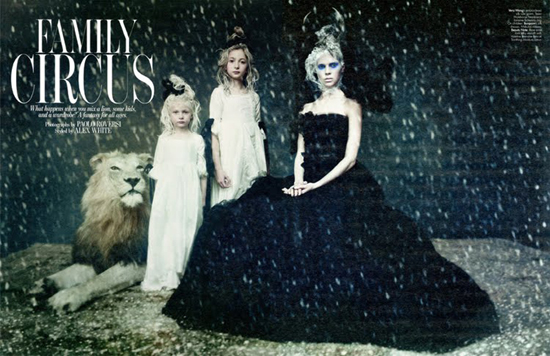 Arizona Muse, Lindsey Wixon and Britt Maren by Paolo Roversi for W Magazine December 2010