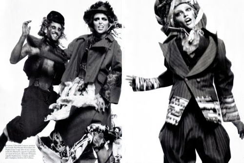 Performance – Steven Meisel for Vogue Italy 2009