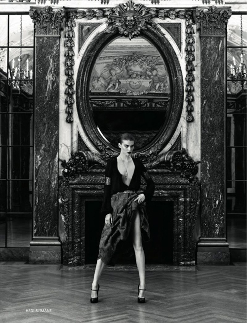 Arizona Muse by Hedi Slimane for Vogue Russia December 2011