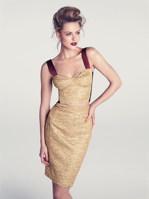 Frida Gustavsson by Andreas Sjodin for H&M Spring/Summer 2012 Lookbook