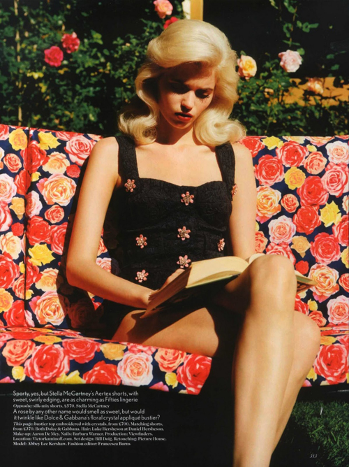Abbey Lee Kershaw by Alasdair McLellan for Vogue UK March 2012
