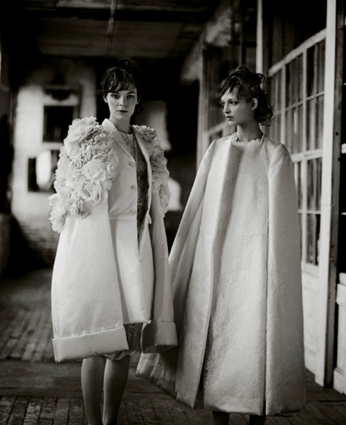 Kinga Rajzak & Daga Ziober by Boo George for T Style Magazine Spring/Summer 2012