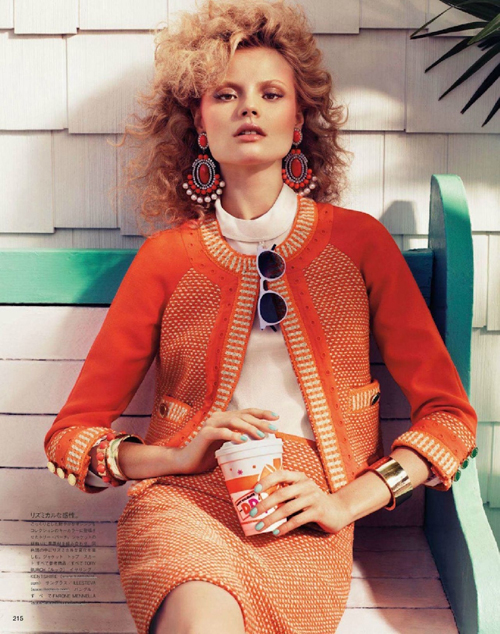 Magdalena Frackowiak by Sharif Hamza for Vogue Nippon February 2012