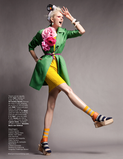 Dani Seitz by Benjamin Kanarek for Vogue Portugal April 2012