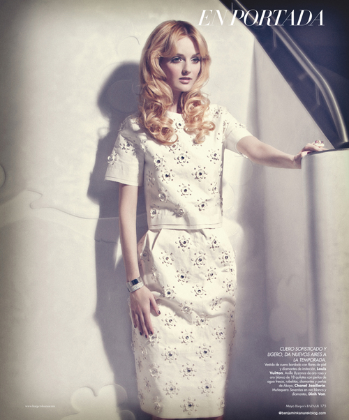 Lydia Hearst by Benjamin Kanarek for Harper´s Bazaar Spain May 2012